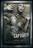 A movie poster for Captivity as used in Spain.