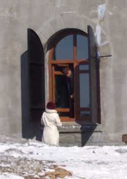 The tour begins with the guide knocking on the window and asking the gatekeeper to let you in.