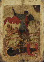 St. George, ca. 1500. Click for larger image.