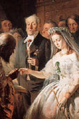 Vasily Pukirev, The Unequal Marriage, 1862 (detail)