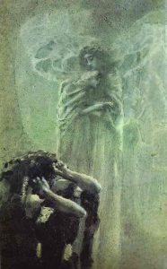 Mikhail Vrubel, Demon and Angel with Tamara's Soul,