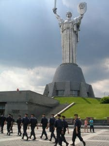 """Base of the """"Mother Motherland"""" monument"""