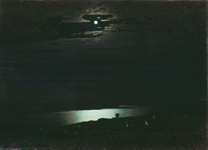 Arkhip Kuindzhi, Moonlit Night on the Dnieper, 1880.