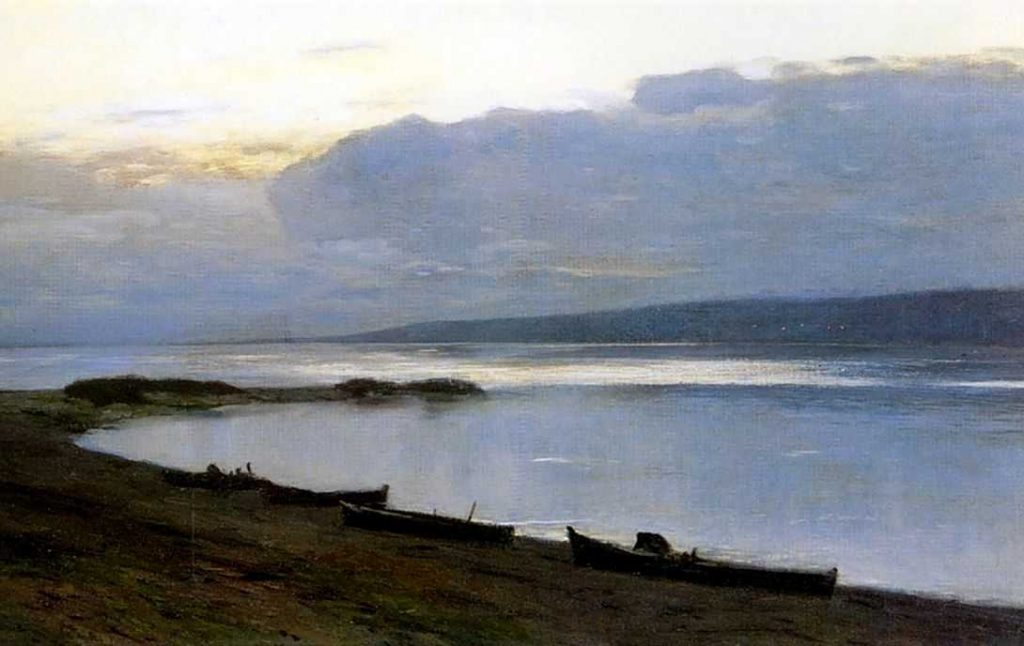 Isaac Levitan, Evening on the Volga, 1887-1888.