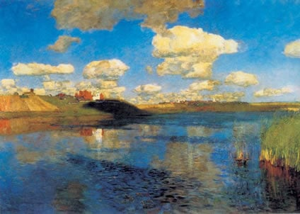 Isaac Levitan, The Lake. Rus, 1899-1900
