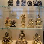 A small sample of the collection of Buddhist religious artifacts