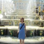 The author at the Cascade at Peterhof