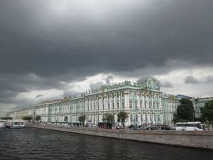 View of the Hermitage on a stormy day