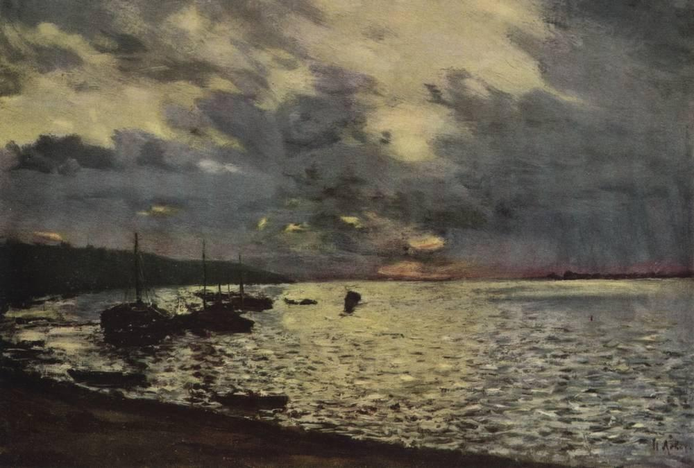 Isaak Levitan, Dull Day at the Volga, 1888