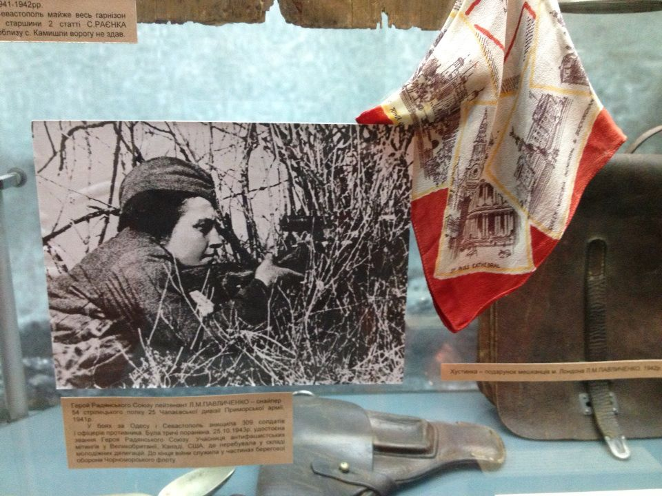 A photo of famous Soviet female sniper Lyudmila Pavlichenko, who single-handedly killed 309 Germans, making her the most successful female sniper in history.
