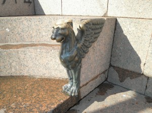 The Griffins at Quay with Sphinxs