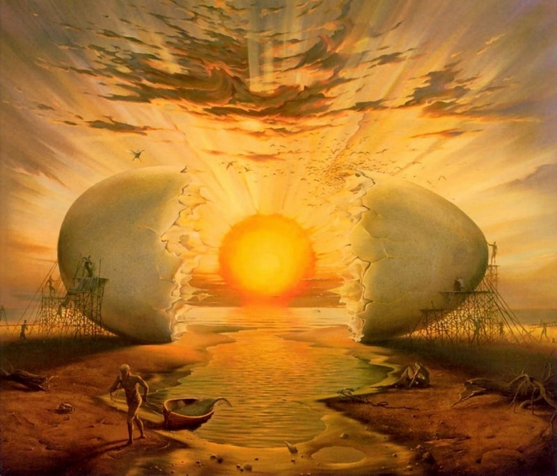 Sunrise on the Ocean Vladimir Kush