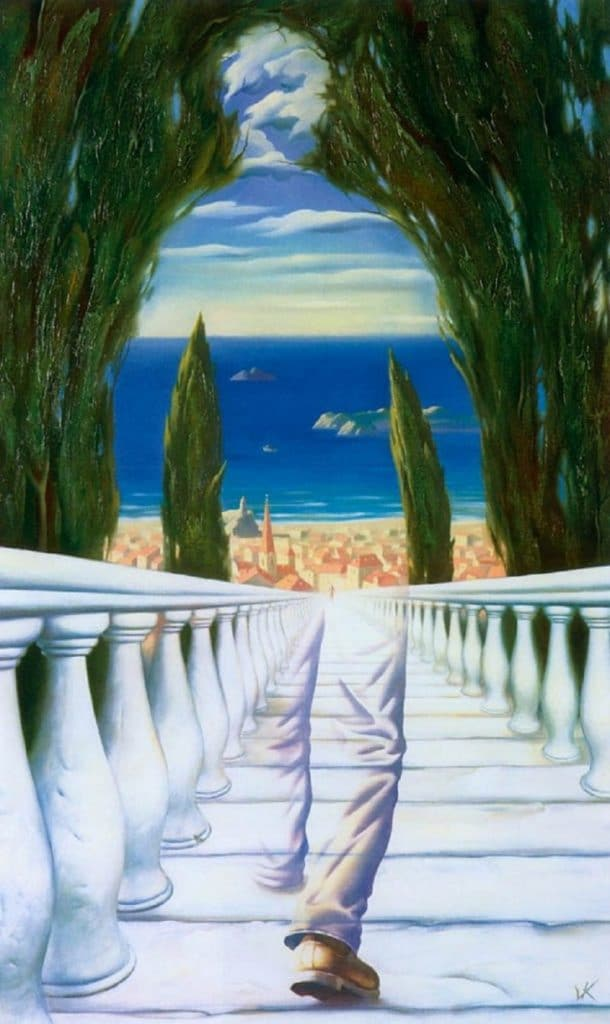Descent to the Mediterranean Vladimir Kush