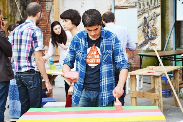 Community action transformed a dilapidated building into an art center in the Caucasus