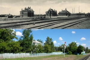 Historic building of the Moscow Ring Railway - then and today