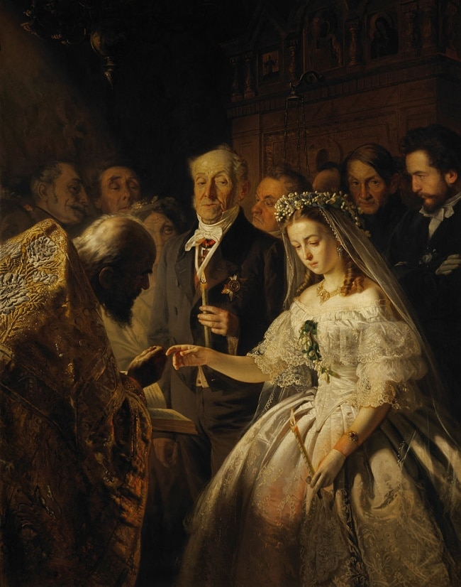 The Unequal Marriage by Vasily Pukirev