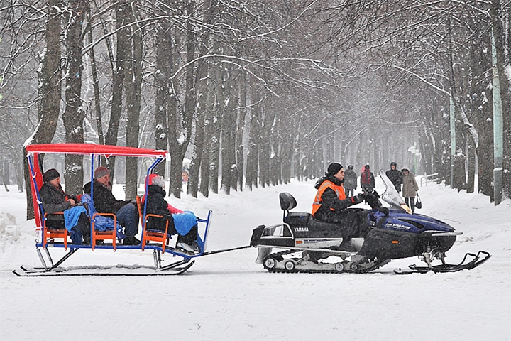 """Snowmobile Village"" in Sokolniki Park"