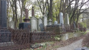 The more modern section of the Okopowa cemetery