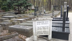Symbolic grave to victims of Holocaust at Okopowa cemetery