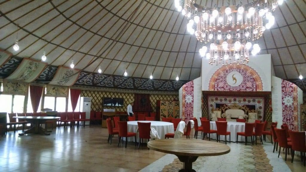 Interior of Banquet Hall Yurt