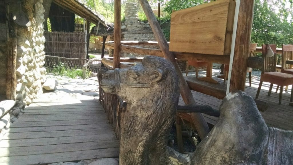 Wood Camel Near Patio
