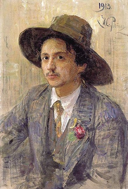 I. Repin - Portrait of Isaak Brodsky, 1913