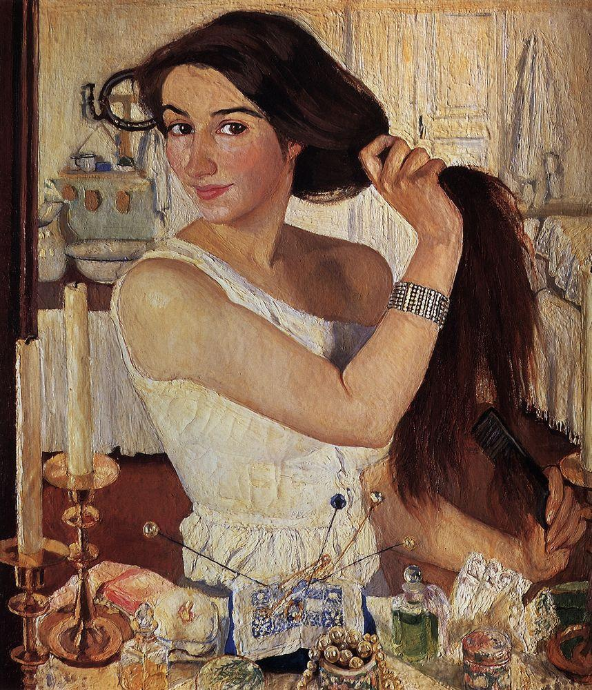 Serebriakova, At the Dressing Table - 1909