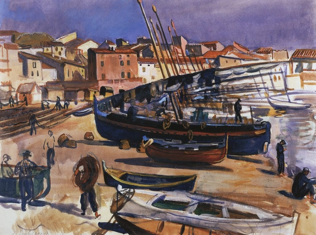 Zinaida Serebriakova, Collioure. Port with Boats – 1930