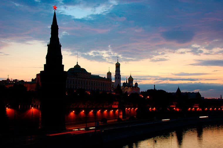 Dusk in Moscow