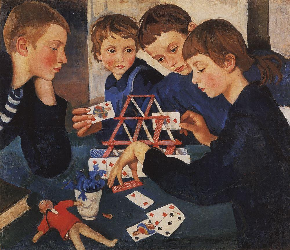Zinaida Serebriakova, House of Cards, 1919